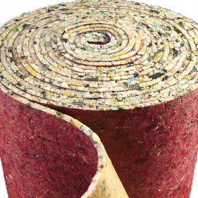 8mm Thick PU Foam Luxury Carpet Underlay Roll