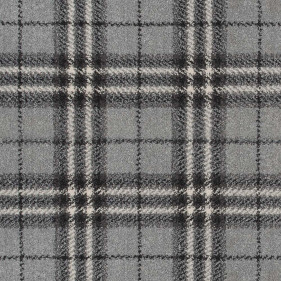Silver Traditional Tartan Queensville Wilton Carpet Remnant far